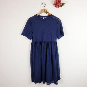 [H&M] Navy Mesh Skater Dress